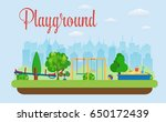 kids playground. buildings for... | Shutterstock .eps vector #650172439