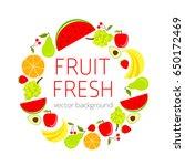 abstract fruit card  organic...   Shutterstock .eps vector #650172469