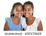 Adorable African Twin Girl On...