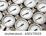 pressure gauge using measure... | Shutterstock . vector #650175025