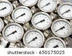 pressure gauge using measure... | Shutterstock . vector #650175025