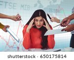 digital composite of hands with ... | Shutterstock . vector #650175814