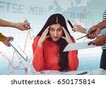 digital composite of hands with ... | Shutterstock . vector #650175814
