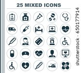 antibiotic icons set.... | Shutterstock .eps vector #650177914