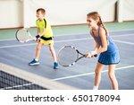 happy children playing sport... | Shutterstock . vector #650178094