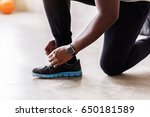 young muscular athlete... | Shutterstock . vector #650181589
