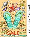 summer slippers marine... | Shutterstock .eps vector #650186785