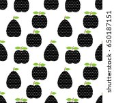 seamless pattern with fruits in ... | Shutterstock .eps vector #650187151
