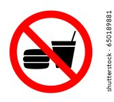 do not eat or drink sign. | Shutterstock .eps vector #650189881