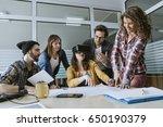 start up team of freelancers in ... | Shutterstock . vector #650190379