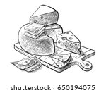 cheese making various types of... | Shutterstock .eps vector #650194075