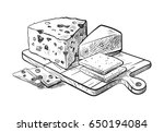 cheese making various types of... | Shutterstock .eps vector #650194084