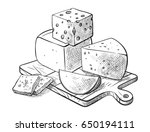 cheese making various types of... | Shutterstock .eps vector #650194111