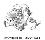 cheese making various types of... | Shutterstock .eps vector #650194165