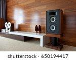 vintage audio system in... | Shutterstock . vector #650194417