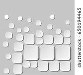 monochrome 3d wallpaper.... | Shutterstock .eps vector #650194465