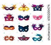 authentic party carnival face... | Shutterstock .eps vector #650200474