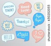 different chat bubble design set | Shutterstock .eps vector #650202055