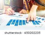 double exposure of business man ...   Shutterstock . vector #650202235
