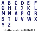 3 d letter a to z with blue... | Shutterstock . vector #650207821