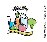heathy food to fitness... | Shutterstock .eps vector #650211751