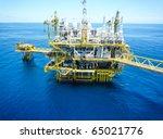 rigs offshore oil refinery | Shutterstock . vector #65021776