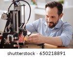 joyful enthusiastic man doing... | Shutterstock . vector #650218891