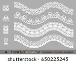 frame lace ornament set ... | Shutterstock .eps vector #650225245