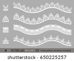 frame lace ornament set ... | Shutterstock .eps vector #650225257