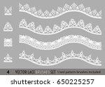 frame lace ornament set ...   Shutterstock .eps vector #650225257