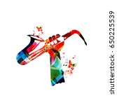 music instrument background.... | Shutterstock .eps vector #650225539
