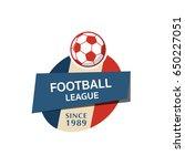 soccer football badge logo ... | Shutterstock .eps vector #650227051