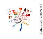 music instruments background... | Shutterstock .eps vector #650227135