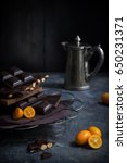 various sorts of dark chocolate ... | Shutterstock . vector #650231371