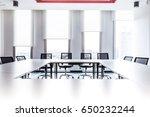 meeting room bar and bar graphs ... | Shutterstock . vector #650232244