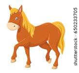 cute cartoon horse illustration | Shutterstock .eps vector #650233705