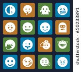 smiley icons set. set of 16... | Shutterstock .eps vector #650233891