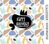 happy birthday card   Shutterstock .eps vector #650237971