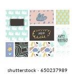 card set  congrats  hello ...   Shutterstock .eps vector #650237989