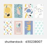 card set abstract shapes | Shutterstock .eps vector #650238007