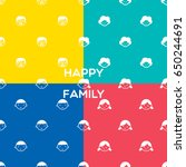 family pattern happy family... | Shutterstock .eps vector #650244691
