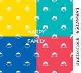 family pattern happy family... | Shutterstock .eps vector #650244691