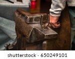 blacksmith  smithy and... | Shutterstock . vector #650249101