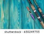 fishing tackle   fishing rod... | Shutterstock . vector #650249755