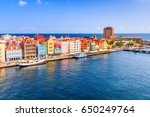 view of downtown willemstad.... | Shutterstock . vector #650249764