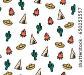 seamless pattern with cute... | Shutterstock .eps vector #650252557