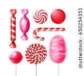 vector set of different sweets... | Shutterstock .eps vector #650254351