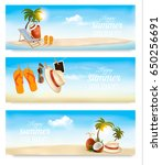 tropical island with palms  a... | Shutterstock .eps vector #650256691