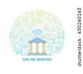 online banking concept. design... | Shutterstock .eps vector #650260165