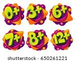 age restrictions for children's ... | Shutterstock .eps vector #650261221